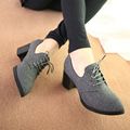 Fashion Nubuck Leather Stylish Women Pumps,Comfortable Lace-Up Footwear,Rough High Heels Platform Zapatos,Sexy Ladies New Shoes