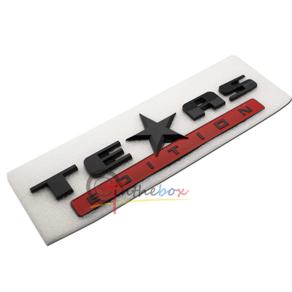 1 black red finish 3d texas edition emblem badges for ford f 150