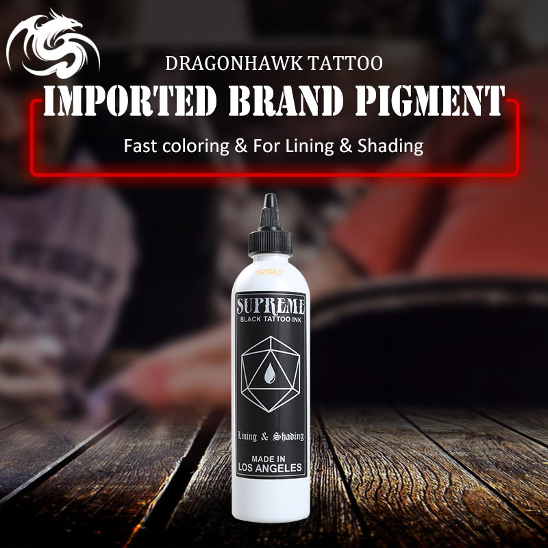 Tattoo Ink for Tattoo Kit 8OZ Import Superme black tattoo ink permanent makeup pigments