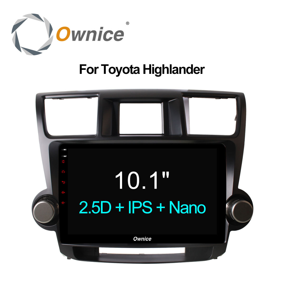 Ownice C500+ 10.1 Car Radio GPS DVD Navi for Toyota HIGHLANDER 2009 2013 2014 2015 Universal 2DIN Android 6.0 8 core 4G LTE 32G