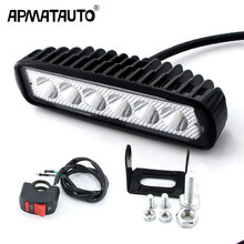 1pcs LED Work Light Bar 18W For Motorcycle Car Truck Boat Tractor Working Light Off Road