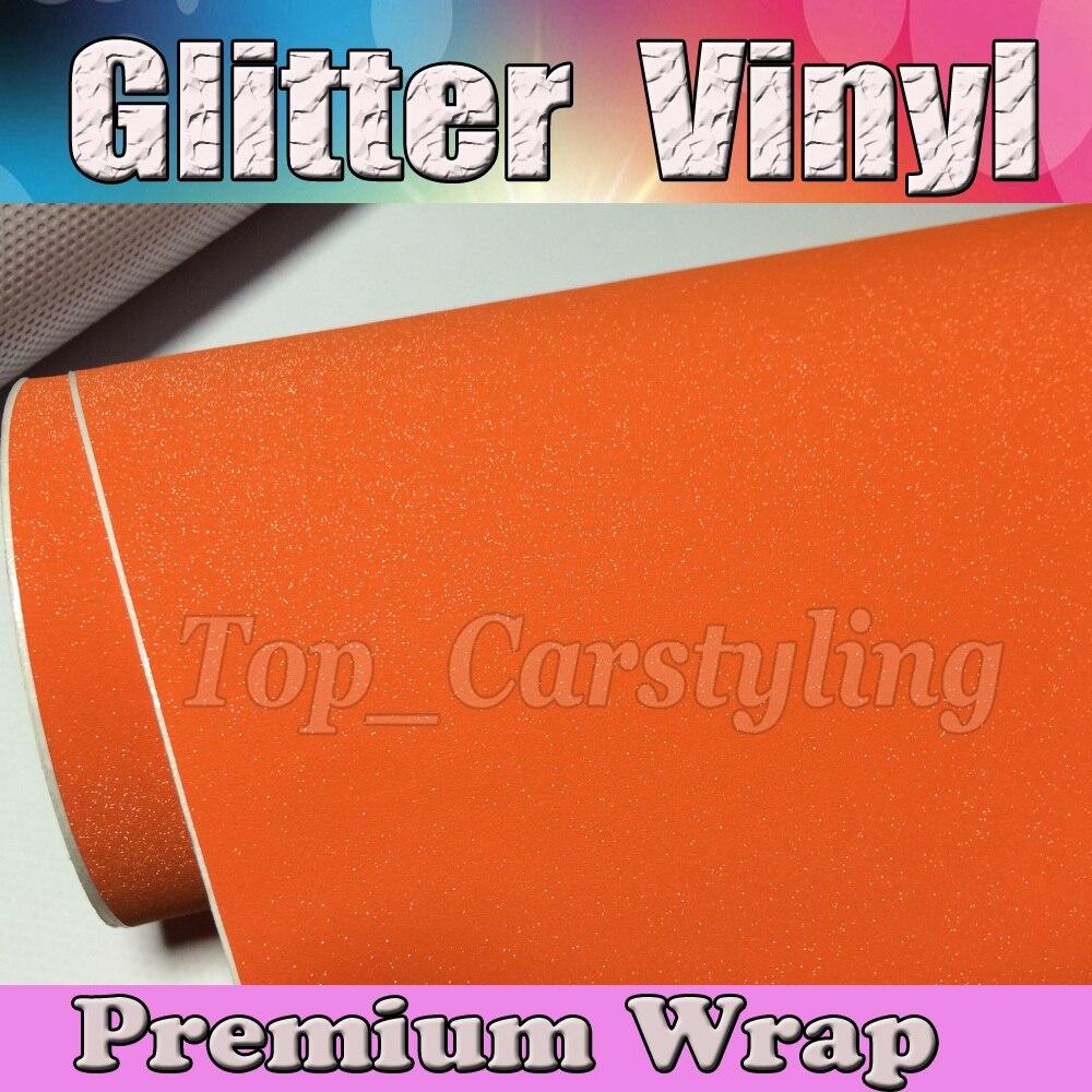 Оранжевый блеск автомобиля винила Обёрточная бумага Стикеры жемчуг с воздушных пузырьков наклейка Плёнки бамперов Размер 1.52x30 м/roll 5x98ft