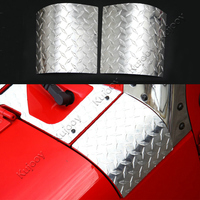 2pcs Silver Aluminium Alloy Angle Wrap Covers Sticker A Column Cornerite Covers Hoods for Jeep Wrangler 2007 2016 Car Styling