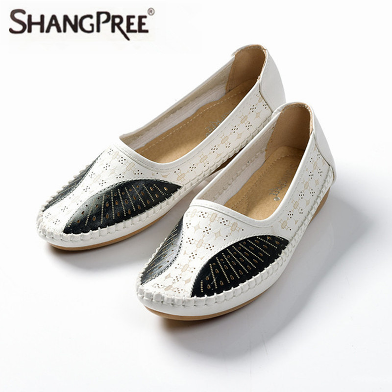 Summer New Women 's Peas Shoes Nurse Shoes Driving Dancing Mother Shoes Ultra - Soft Breathable Sandals women s shoes 2017 summer new fashion footwear women s air network flat shoes breathable comfortable casual shoes jdt103