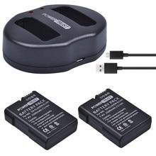 Batterie 2x1500mAh EN-EL14 EN-EL14 EN EL14 EN EL14A + chargeur double USB pour appareil photo Nikon D5200 D3100 D3200 D5100 P7000 P7100 P7700