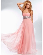 Pink Purple Chiffon Prom Dresses Pleat Beading Crystal Long Evening Dress Formal Party Gowns Robe De Soiree