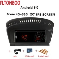ID7 Android 9.0 for bmw Series 5 E60, E61, E62, E63,E90 car gps,Wifi,canbus,steering wheel,copy map,6 core,32GB ROM,1280x480