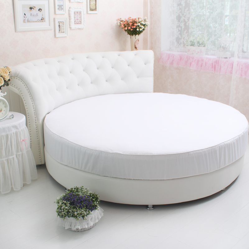 100 Cotton Is Suitable For The Round Bed Sheet White Sheet