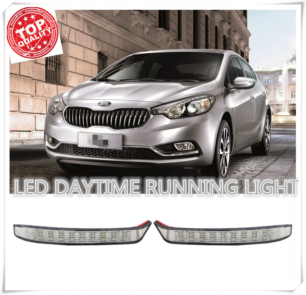 Factory direct sales Super bright LED DRL Daytime Running font b Lights b font for KIA