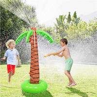 Water Play Sprinkler Inflatable Palm Tree Kids Spray Water Toy Outdoor Party Summer Fun Summer Swimming Party Beach 40MY27