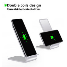Alloy Wireless Charging Stand Qi Wireless Charger for Samsung Galaxy S7 Edge Note8 S8 Plus Wireless Charger For iPhone 8 Plus X