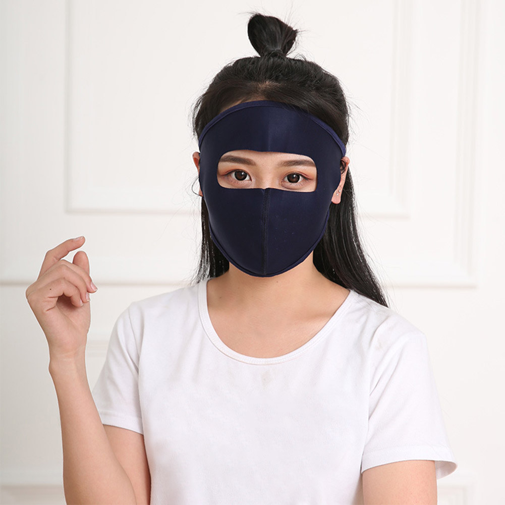 Men Women Anti Pollution Dustproof Sunscreen Space Layer Breathable Outdoor Equipment UV Protection Summer Face Mask Reusable