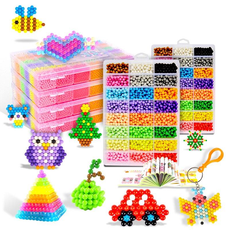 Children Magic Water Beads 5mm Kit DIY Beads Kids Creative Handmade 3D Puzzle Beads Craft Educational Toy