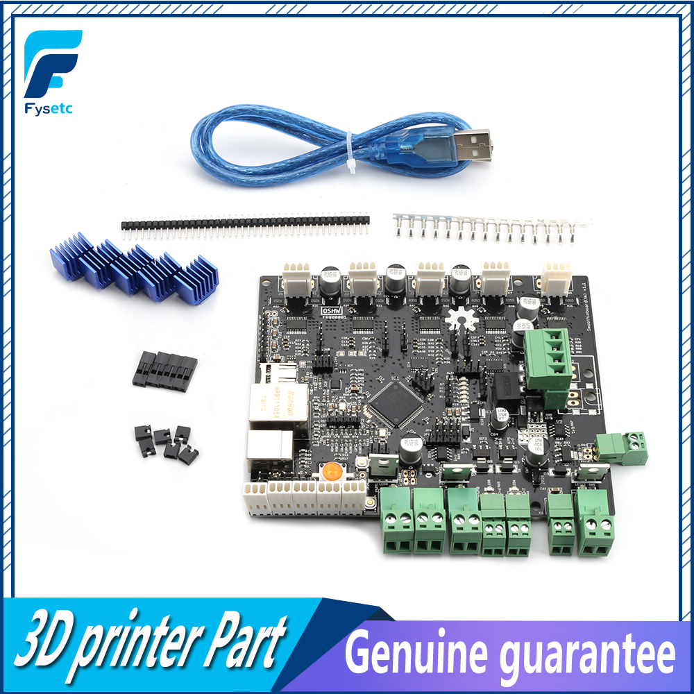 3D Printer Smoothieboard 5X 5XC V1.1 ARM Open Source Motherboard 32 Bit LPC1769 Cortex-M3 Control Board Support Ethernet ForCNC