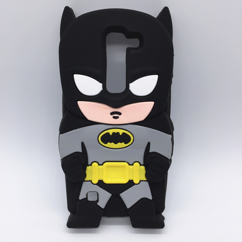 NEW 3D Cartoon Hero Batman Soft Silicone Case For LG Magna C90 H520N H502F H500F G4C G4MINI Y90/ Volt 2 LS751 Rubber Shell