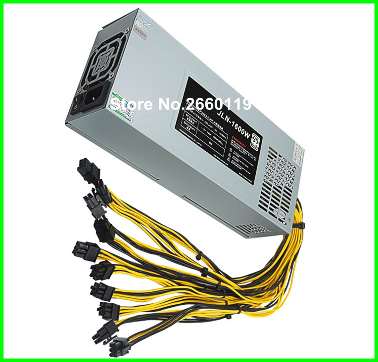 For S7/S9 APW3+ L3+ 1600w JLN-1600W high-power miner power supply 6PIN*10 mining PSU, fully tested 2016 new antminer apw3 12 1600 a3 1600w s5 s5 s7 psu power supply bitmain antminer apw3 12 1600 psu series 1u psu s9