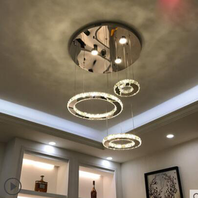 Restaurant chandelier creative personality three led crystal chandelier living room lamp atmosphere modern minimalist dining led hustler колготки с рисунком в виде треугольников