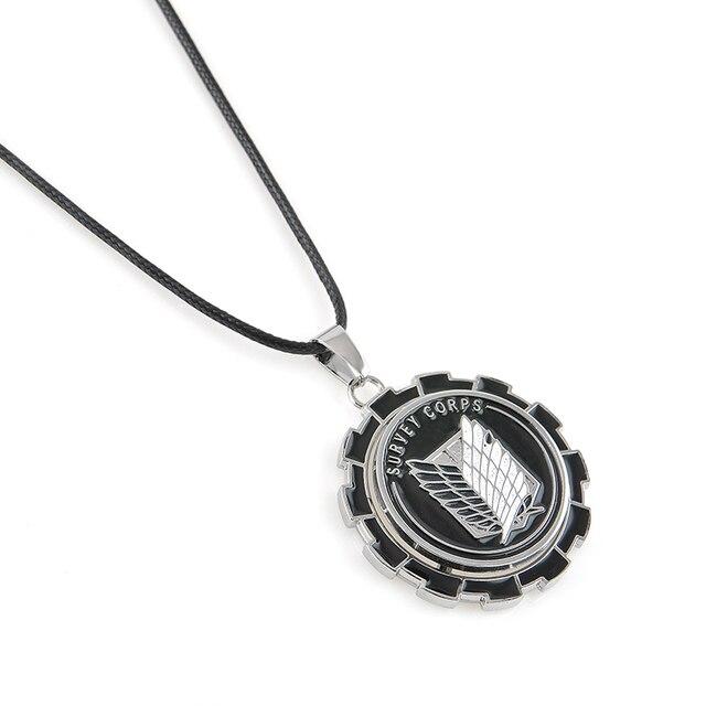 Металлические колеса, шестерни, Аниме Нападение на Titan Крылья свободы Ожерелье Shingeki нет Kyojin Косплей Ожерелье Обследования Корпуса Колье