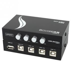 Новый коммутатор с 4 портами USB 2,0, переключатель для совместного использования, концентратор для ПК, ручного сканера, принтера