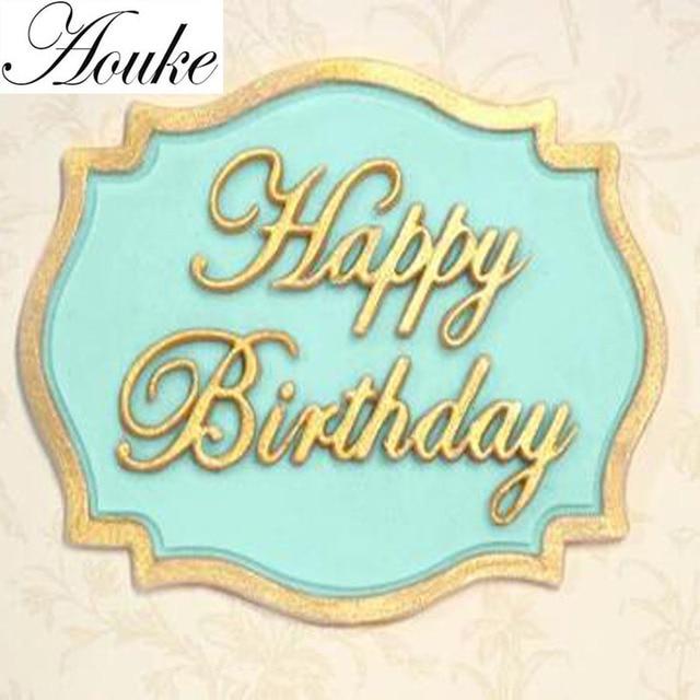1 PZ Buon Compleanno Forma Silicone Lace Muffa Della Torta Strumenti, fondente B