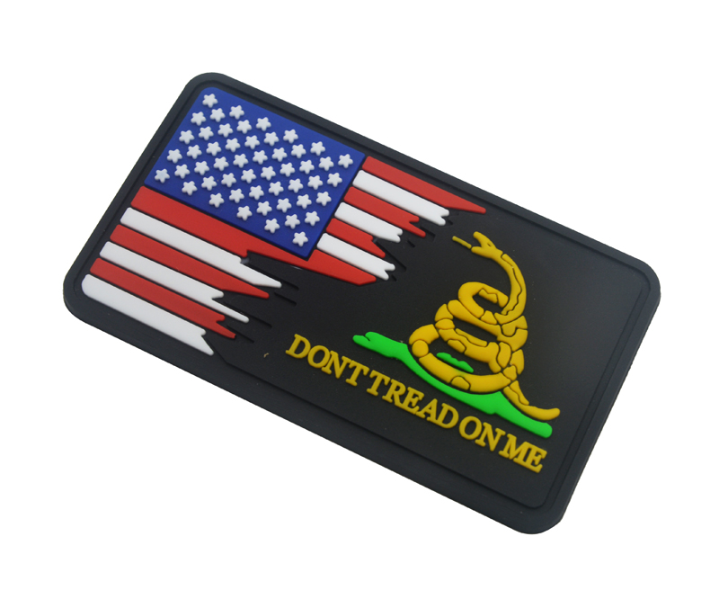 3.5 Inch Dont Tread On Me Round Gadsden Snake Patriotic Embroidered Biker Patch