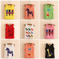 Summer 2017 Korean cartoon printing children baby boy girl vest sleeveless T-shirt tx-3790