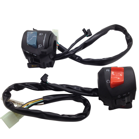 yecnecty 1 par interruptor de sinal volta da motocicleta moto chifre botao controle para honda