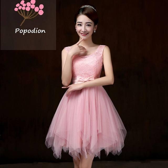 Tienda Online Violeta vestidos de honor corto vestido para invitados ...