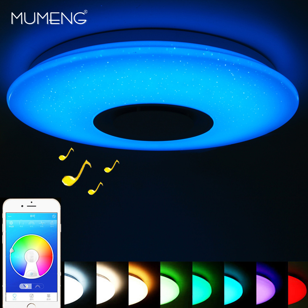 Modern LED Ceiling Lights Bluetooth Music Light RGB Dimmable 36W APP Remote Control Foyer Bedroom Smart Ceiling Lamp