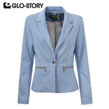 GLO-STORY 2017 Spring Slim Women Blazer Coat Casual Women Jacket Long Sleeve One Button Suit Ladies Blazers Work Wear WXZ-1378