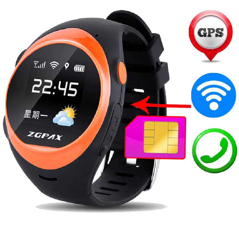 S888 2G SIM Card font b Smart b font Wrist font b Watch b font SOS