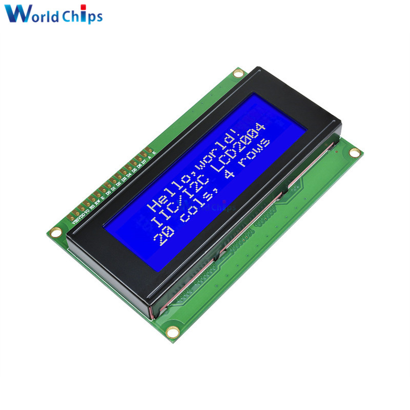 New 2004 204 20X4 Character LCD Display Module Blue Blacklight 5V Blue Screen For Arduino