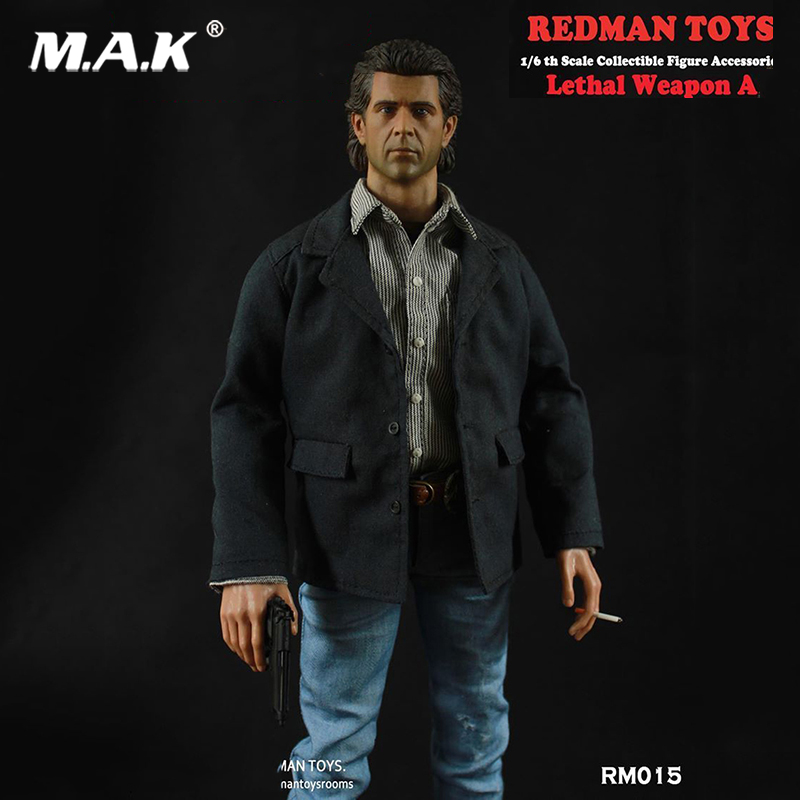 REDMAN TOYS RM015 1/6 Scale Lethal Weapon Mel Columcille Gerard Gibson Head Suit For 12 Action Figure Male Body Model Toys ACC REDMAN TOYS RM015 1/6 Scale Lethal Weapon Mel Columcille Gerard Gibson Head Suit For 12 Action Figure Male Body Model Toys ACC
