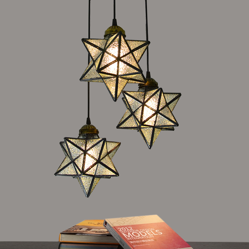 Bright Star Featured Pendant Light with  Globe Style Pendant Lights Home Light Fixture for Dining  Living Kid's Room Lighting