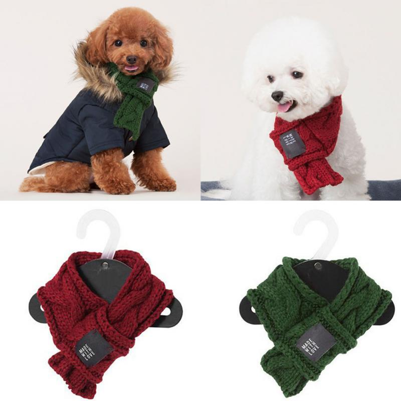 Winter  Cute Puppy Pet Dogs Knitting Warm Thicken Scarf Shawl  Knit  Collar