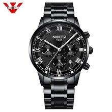 NIBOSI Heren Horloges Top Brand Luxe Goud Quartz Heren Horloge Drop Shipping Business Casual Sport Mannelijke Horloge Relogio Masculino