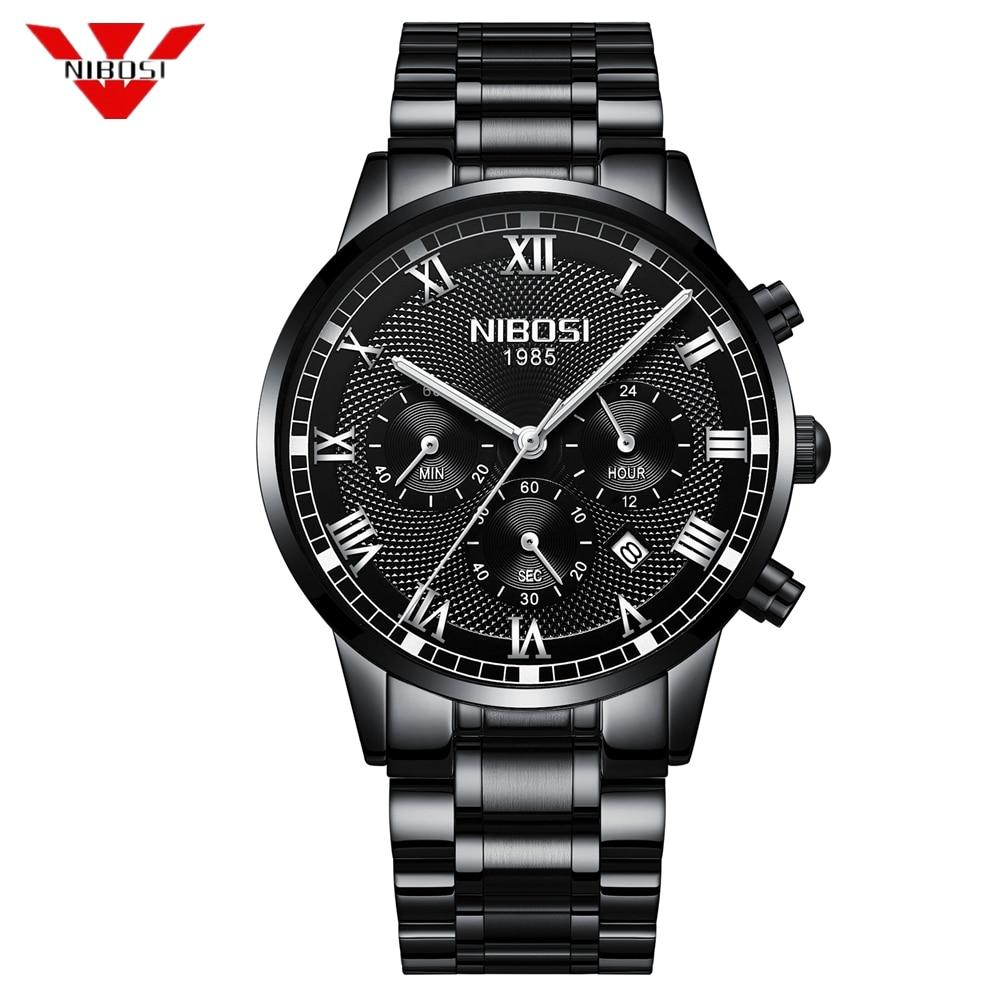 все цены на NIBOSI Mens Watches Top Brand Luxury Gold Quartz Men Watch Drop Shipping Business Casual Sport Male Wristwatch Relogio Masculino