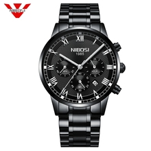 NIBOSI Mens Watches Top Brand Luxury Gold Quartz Men Watch Drop Shipping Business Casual Sport Male Wristwatch Relogio Masculino