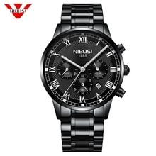 NIBOSI hommes montres haut de gamme marque de luxe or Quartz hommes montre livraison directe affaires décontracté Sport homme montre bracelet Relogio Masculino