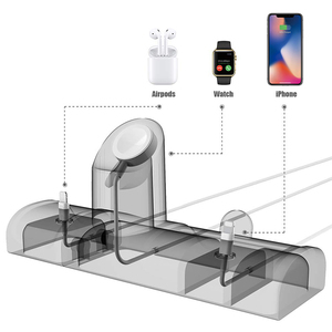 Image 4 - 3 In 1 Charge Stand Dock Station For Apple Watch Series 5/4 Silicone Charge Base For Iphone 11 Pro Charging Dock For Airpods Pro