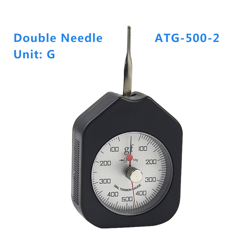 ATG-500-2 Dial Tension Meter Analog Force Gauge Double Pointer Force Tools