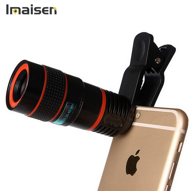 US $6 9 |hot mobil phone telescope 8X zoom telephone optical zoom cell  phone camera lens kit for iphone 7 6 5 5s android htc smartphone-in Mobile