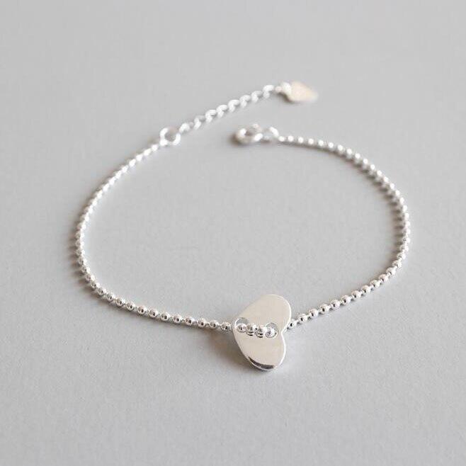 LVB16 heart shape women bracelet send with bag 58mm diameter can adjust size for women lover gift