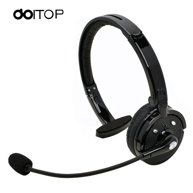 DOITOP BT Wireless Mono Headphone Sport Hands-free Earphone With Mic Earbud For PS3 Phone PC Noise Reduction for Drivers A3 sport super bass stereo earphone 3 5mm jack headset hands free headphone with mic music earphone for all phone computer pc