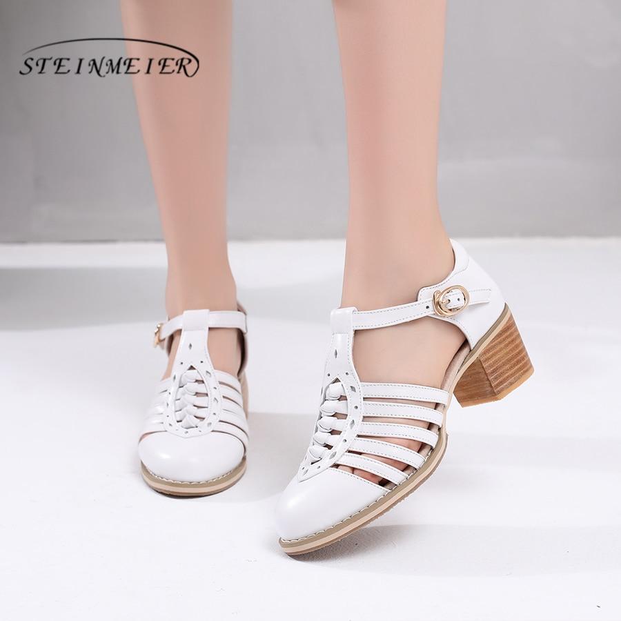 Women sandals oxford shoes vintage genuine leather high heels gladiator oxfords summer platform sandals for women slippers 2019