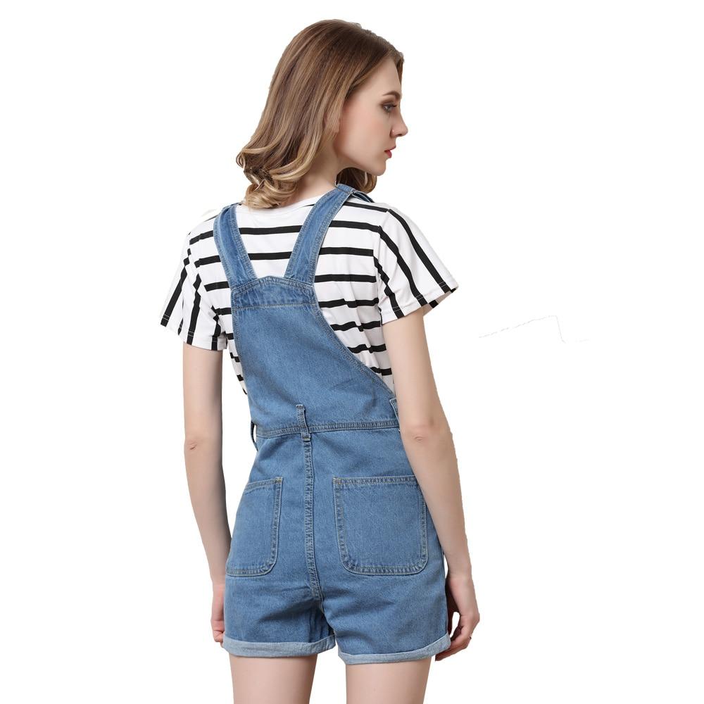 ec7df63fbaa LORDXX Denim Overalls Shorts Women Blue Summer Short Jumpsuits Playsuits  2018 New Romper combinaison short femme Jean shorts-in Rompers from Women s  ...