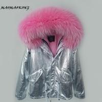 MAO MAO KONG 2017 Parkas woman winter jacket short Women Fur Collar hooded coat Casual Cotton Outwear Hot