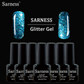sarness brand 8 ML UV Gel Polish Nail Art 20 Color Decorations 3D Diamond Glitter Colorful UV Nail Gel Polish Long Lasting