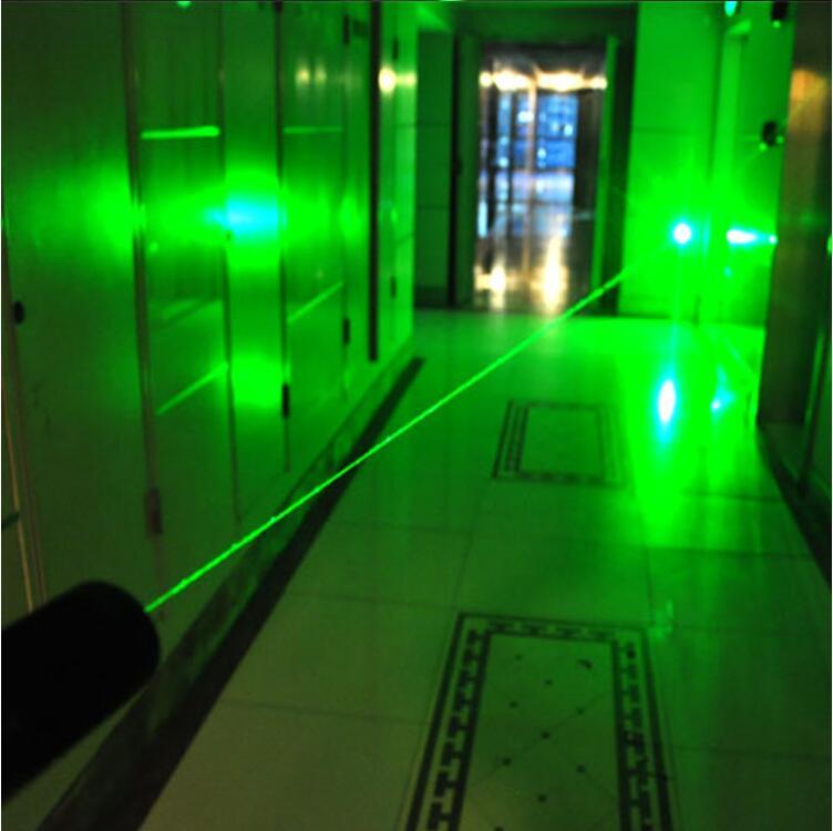 High Power Green Laser Pointer Pen 303 532NM Adjustable Focus Burning Match 2 in 1 Bright Single Point Starry Lazer + Safe Key