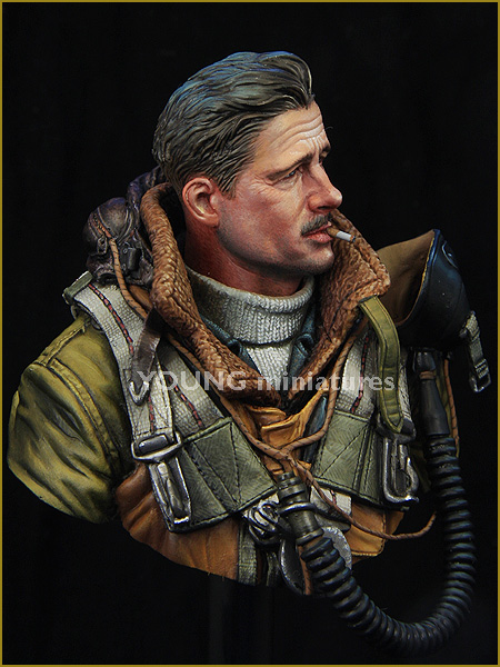 Resin Kits 1 10 US Bomber Command soldier WWII bust  Unpainted Kit Resin Model Free